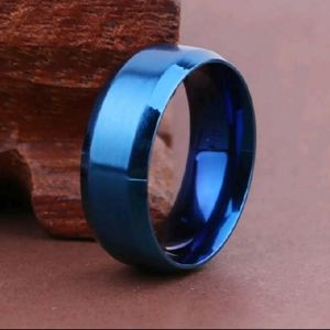 Blue Stainless Steel Ring NWT